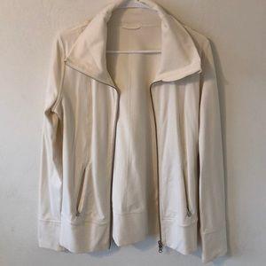 Cream lululemon cowl neck jacket